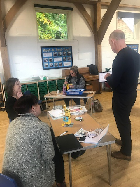 teachers being trained at Rake Primary School